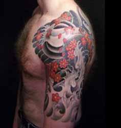 tatouage japonais homme 1001 tatouage homme. Black Bedroom Furniture Sets. Home Design Ideas