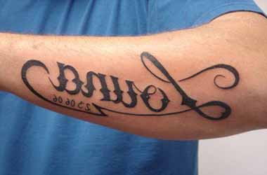 Ecriture Tatouage Homme Avant Bras Kolorisse Developpement