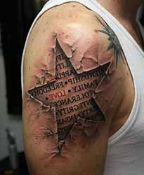 tatouage etoile epaule homme 1001 tatouage homme. Black Bedroom Furniture Sets. Home Design Ideas